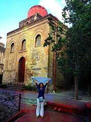 Saluti da Palermu (mypixbox) Tags: red italy woman church monument arab dome sicily palermo sancataldo img3830 arabonormanno