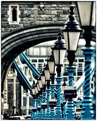 Tower Bridge Lamplights (christineWood2013) Tags: bridge london tower lights streetlights compression lamps compressed lamplights