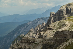 View from Rifugio Auronzo (Pieter Mooij) Tags: leica italy mountain mountains montagne italia apo berge bergen italie mountainpeaks rifugioauronzo bergtoppen leicam240