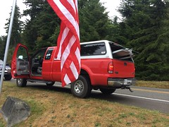 IMG_7357 - Port Ludlow WA - East Jefferson County Rotary club - US Flags - Labor Day - Pete Leenhouts Ford F-250 (BlackShoe1) Tags: dog dogs washington flag olympicpeninsula americanflag flags pacificnorthwest wa washingtonstate rotary usflag irondale portludlow rotaryinternational porthadlock unitedstatesflag muttstrutt portludlowwa chimacum porthadlockwa flagproject quilcine chimacumwa irondalewa district5020 eastjeffersoncounty therotaryclubofeastjeffersoncountywa eastjeffersoncountyrotaryclub ejcrotary eastjeffersoncountyrotary quilcinewa rotarydistrict5020 therotaryclubofeastjeffersoncounty