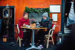 The last step (Sator Arepo) Tags: leica winter cold cup coffee bar 35mm copenhagen table denmark sitting terrace streetphotography rangefinder cap conversation summilux m9 preasph