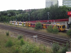 Tyne and Wear Metro-Metrocars 4028 and 4080 at Gateshead Stadium (CoachAlex1996) Tags: light england train newcastle metro north transport rail railway tyne system wear east transportation network passenger tyneandwearmetro metrocar