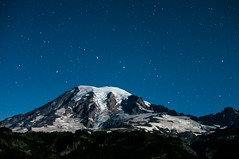DSC7873a (Ben.d.s) Tags: road longexposure trip blue trees light moon mountain snow night way stars star washington big exposure fuji mt time roadtrip adventure nighttime rainier cascades wa moonlight mtrainier milky vignette bigdipper dipper milkyway x100 fujix100s x100s x100t