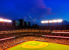 I took this photo with Pro HDR for the iPhone! (f l a m i n g o) Tags: game june rockies colorado baseball denver hdr app coorsfield iphone