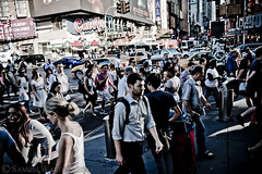 42nd Street Crossing (SamuelWalters74) Tags: newyorkcity newyork unitedstates manhattan places timessquare theaterdistrict