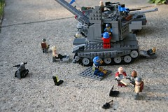 Evening Maintenance (ABS Defence Systems) Tags: tank lego military maintenance vehicle artillery armour spg brikwars