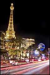 Las Vegas Boulevard (Ray Devlin) Tags: nevada las vegas lasvegas boulevard hotels casino hotel eiffel tower long exposure night low light lowlight desert
