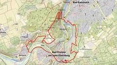 Karte unserer Wanderung TourNatur (Screenshot Outdooractive)