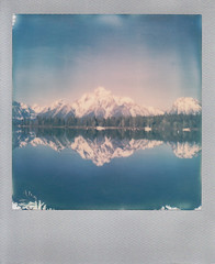 Grand Teton National Park (jillybeanmi) Tags: polaroids instant grandtetonnationalpark impossibleproject impossiblefilm sx70 nationalparks mountains water waterscape
