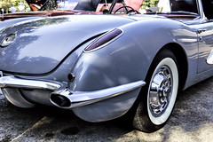 Brilliant Design (Scott Sanford) Tags: 6d automibile canon car chrome classic ef2470f28l eos libertycounty outdoor shine sunlight texas topazlabs vintage 1960corvetteconvertible numbersmatching original
