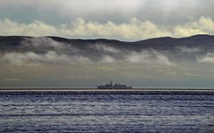 HMS Somerset (Zak355) Tags: rothesay isleofbute bute scotland scottish fog mist haar weather hmssomerset royalnavy ship frigate boat vessel riverclyde
