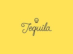 Tequila uhhh!! (Manu Galvn) Tags: type customtype lettering outline flat yellow black tequila mexico