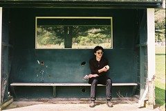 Lunch Breaks in the Shade (Denzel De Ruysscher) Tags: 35mm pentax colour film explore break apple shade shack green golf nature model