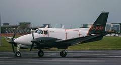 King Air: LJ-327 G-JOTA Beech B90 King Air Newcastle Airport (emdjt42) Tags: beech beechcraft kingair jotaaviation newcastleairport gjota