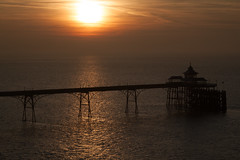 Sunset at Clevedon Pier (hectordotlee) Tags: noediting 500d clevedon clevedonpier grade1 listed structure asshot attraction autumn canon canon500d dock fall gradei pier scenic silhouette sky skyline sunset tourist travel victorian water england unitedkingdom