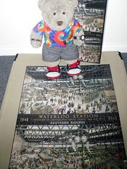 Trane Stayshun (pefkosmad) Tags: jigsaw puzzle leisure hobby pastime complete 1000pieces tedricstudmuffin teddy ted bear stuffed cuddly toy soft plush fluffy cute