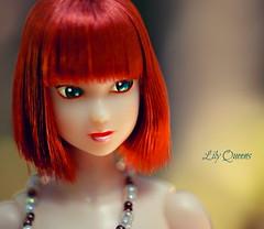 Queenie Portrait ( Lily Queens ) Tags: queenie red momoko kid blue strawberry sekiguchi doll