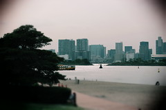 Welcome To Japan (puppyhand) Tags: japan japanese trip trips visit visits travel travels april 2016 tokyo odaiba beach man made water boat tree trees buildings skyline buoy buoys path pathway outside outdoors