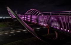 Steve Prescott Bridge St Helens (sammys gallery) Tags: sthelens bridge nightscene nighttraffic unitedkingdom england