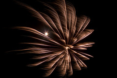 Fireworks and the Moon (Nature's Image Photography) Tags: fireworks moon nightphotography
