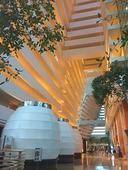 Marina Bay Sands hotel lobby (Simon_sees) Tags: lobby iconic engineering architecture holiday vacation travel mbs marinabaysands hotel singapore