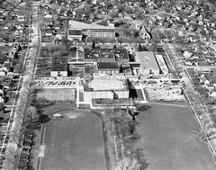 P-70-Y-005 (neenahhistoricalsociety) Tags: jrhighschools schools highschools footballfield shattuck stmargaretmary churches