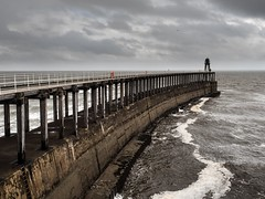 Whitby in the autumn (jonnodavies) Tags: olympus omd em5mk2 sea water storm cloud seaside outdoors pier harbour