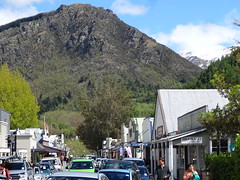 Arrowtown. An old Otago gold mining town of the 1860s  near Queenstown. The busy main street now mainly serves tourists. (denisbin) Tags: arrowtown queenstown wisteria shotoverriver southernalps newzealand presbyterian church otago mainstreet shoops
