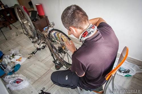 Naprawa Ani roweru