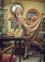 Ellie Rousou pinups II: the Secretary (Naughty Ghost) (SpirosK photography) Tags: ellierousou vintage retrosexual athens greece αθήνα ελλάδα pinup pinupphotography spiroskphotography veniaandreou alvina alvinahairstyles newskinclothes newskin elisavetlatsiou portrait cute rousou