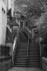 Edinburgh Stairs (Ian Press Photography) Tags: edinburgh scotland stairs black white mono pattern explore explored