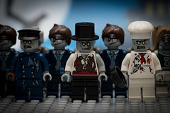 Happy Lego Halloween (Andrew D2010) Tags: lwgo minifigures skateboarder ghost tophat grey lego zombies halloween graveyard pirate undead chearleader monsters zombie skate skateboard blue hazmatguy cook groom suit businessman spooky driver taxidriver ghostbusters scoobydoo hat chef walk
