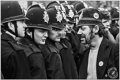 Orgreave Coking Works, 1984 miners strike by Don McPhee (Pitheadgear) Tags: orgreave strike 1984 miners yorkshire orgreavecokeworks minersstrike politics num labour tories thatcher corruption