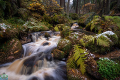 Wyming Brook Autumn Snow (James G Photography) Tags: peakdistrict peaks wymingbrook brook waterfall autumn snow winter longexposure cascade rivelinvalley rivilen sheffield yorkshire england unitedkingdom gb