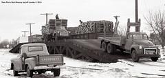 NP Railway Loading Pulpwood at Ironton, Minnesota 1964 (Twin Ports Rail History) Tags: twin ports rail history by jeff lemke time machine soo line np northern pacific railway railroad pulpwood gondola loading ironton minnesota industry 1964