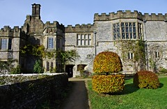 Haddon Hall, Bakewell, Derbyshire (Blue sky and countryside) Tags: haddon hall medieval manor house bakewell peak district national park england pentax autumn