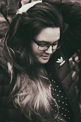 eSW09 (filiptondr) Tags: wind blow portrait bw black white mountain canon 40m girl lady adidas silver hair