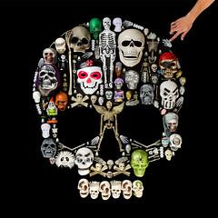 Skull of Skulls (J Trav) Tags: dothe99 99centonlystore skull skullofskulls halloween square 500x500 thingsorganizedneatly product california dayofthedead