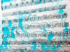 """No6 Baritone Solo """"Behold the Child"""" (Steve Taylor (Photography)) Tags: sheetmusic notes lace art digital blue black white contrast paper newzealand nz southisland canterbury christchurch texture"""