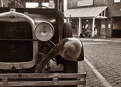 Model A (Oliver Leveritt) Tags: downtownnacogdoches nacogdochestx nikkor18200mmf3556gif nikond90 nacogdoches texas afsdxvrnikkor18200mmf3556gifed oliverleverittphotography modelaford modela ford automobile antique monochrome blackandwhite sepia platinum mercantile