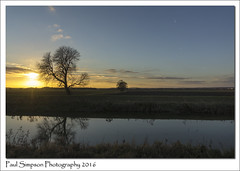 Lincolnshire River Ancholme Sunset (Paul Simpson Photography) Tags: lincolnshire riverancholme water trees sunshine bluesky imagesof imageof paulsimpsonphotography photosof photoof nature reflection sonya77 sonyphotography december2016