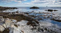 Kennebunkport, Maine (dcjohnson50) Tags: maine canon canon5dmarkiii 5d canon2470mm ocean clouds skies beautiful roadtrip eos markiii beach rocks sailboat kennebunkport kennebunk
