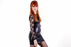 Karoline in Leather. (PhotographerJockeFransson) Tags: leather 85mm studio tamron portrait 6d canon eos woman