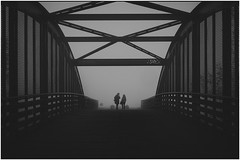 Bridge of Spies (Petricor Photography) Tags: milan milano streetitaly lombardy italy mi italia street city bridge black white blackandwhite photography candid fog mist misty foggy