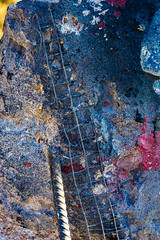 splatter Art 134 (Jae at Wits End) Tags: textured abstract blue color rust texture corroded corrosion line lines metal oxidation oxidized patina pattern rustic rusty shape shapes wear weathered