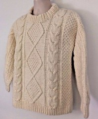Aran wool sweater (Mytwist) Tags: artesania womens thick chunky 100 wool cream ivory hand knit sweater amylinndog aranstyle aranjumper aransweater authentic irish aran retro fetish fashion fisherman style sexy sweaters jersey laine design dublin designed handgestrickt handknitted handcraft cabled bulky cozy craft classic cables casual passion textured traditional timeless heritage handknit honeycomb crew webfound mytwist