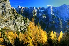 Mangart Wall (hapulcu) Tags: alps alpen julian slovenia slovenija slovenie autumn herbst automne otoo toamna