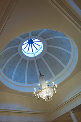 Assembly Rooms - Interior, Edinburgh (David_Leicafan) Tags: 24mmelmaritasph edinburgh assemblyrooms cupola chandelier crystal