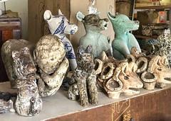 IMG_3495 (francois f swanepoel) Tags: ceramics dog dogs hond honda honde keramiek lastworx nicolenecswanepoel nikkidogs nikkipix studio ceramicist cowheads koeikoppe