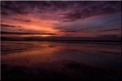 Westward Ho! Winter Sunset (Mark Wasteney) Tags: sea seaside seascape coast coastline beach sand water reflections sunset skyscape cloudsstormssunsetssunrises clouds westcountry westwardho winter devon northdevon canon100d canon16mm35mmf28